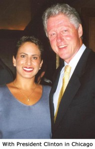 With Bill Clinton in Chicago