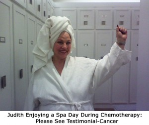 Judith at the spa